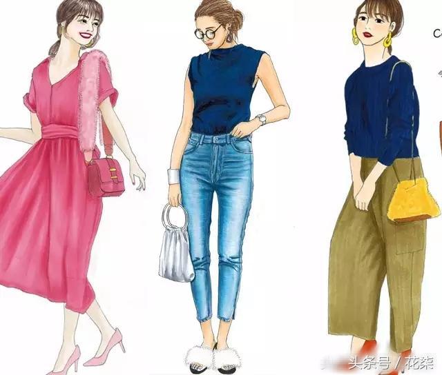 30岁轻熟穿搭色彩更重要,24套手绘穿搭颜色搭配超级好看!